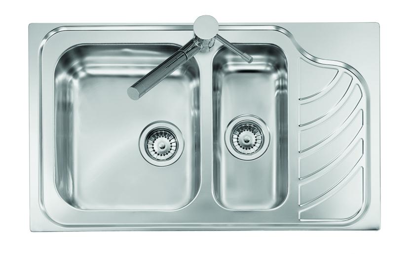 VINTAGE - INCASSO STANDARD E BORDO 8 mm lavello in acciaio inox ad ...