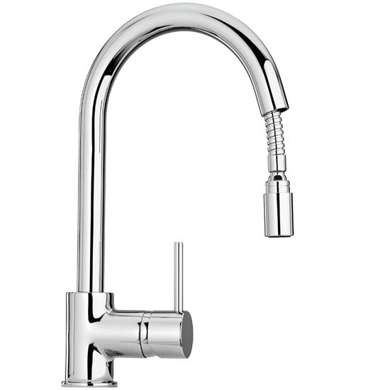 COX rubinetto monocomando lavello monoforo con doccetta estraibile ...
