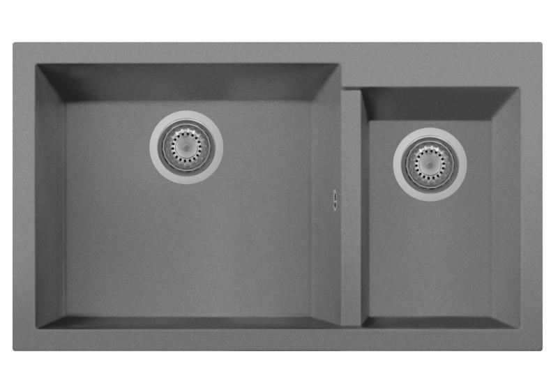Lavandino Bagno Due Vasche.One 86 20st Lavandino Cucina A Due Vasche Finitura Micro Ultragranit