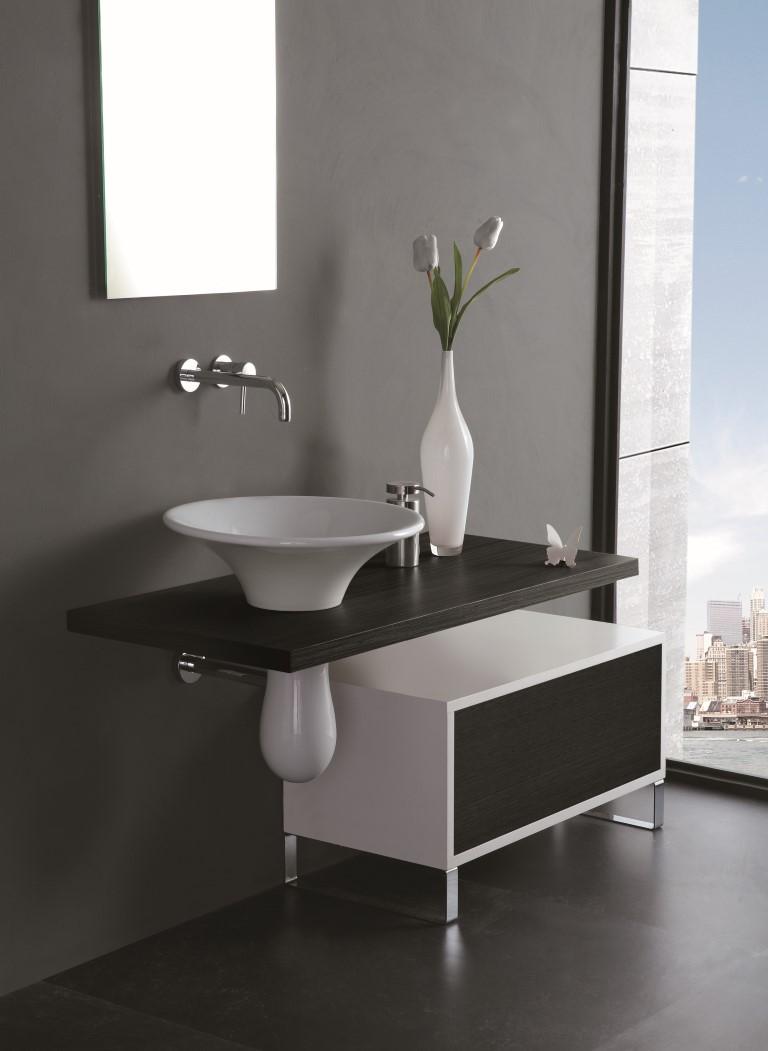 Lavello Bagno Da Appoggio formosa lavabo da appoggio tondo 50 + semicolonna - bagno