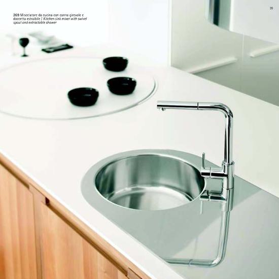 HI-TECH rubinetto miscelatore lavello cucina con doccino estraibile ...