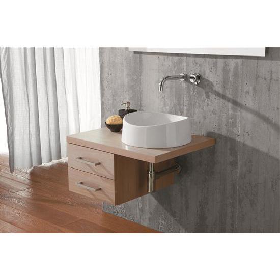 bacinello onda lavabo tondo da appoggio diam40 cm bagno italiano