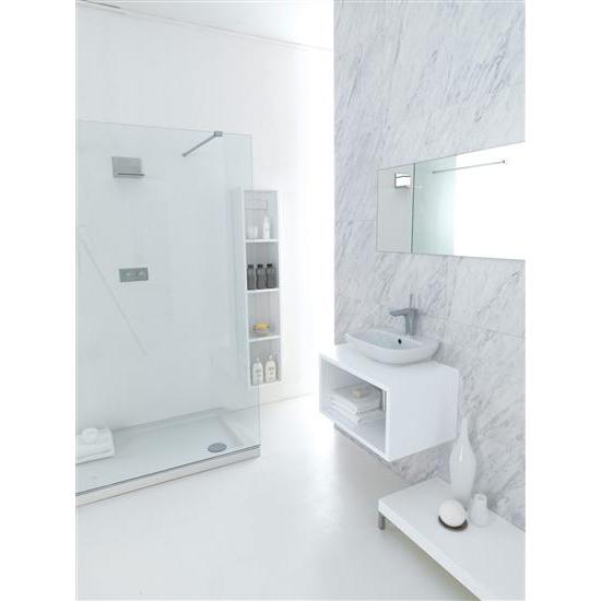 Clear lavabo da appoggio sospeso 45 cm bagno italiano - Lavabo bagno sospeso offerta ...